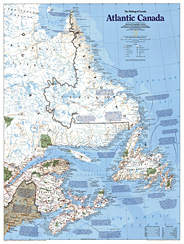 Water Bodies Map Of Canada.Atlantic Canada Laminated Ng 1 2 980 000 A Classic Laminated Wall