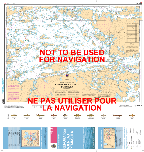 Map Of Kenora Canada.6212 Kenora To Aulneau Peninsula North Lake Of The Woods