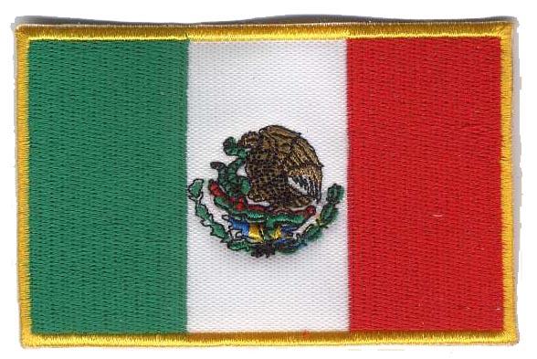 mexico flag pictures. Mexico Flag Patch 3.5quot; x 2.25quot;