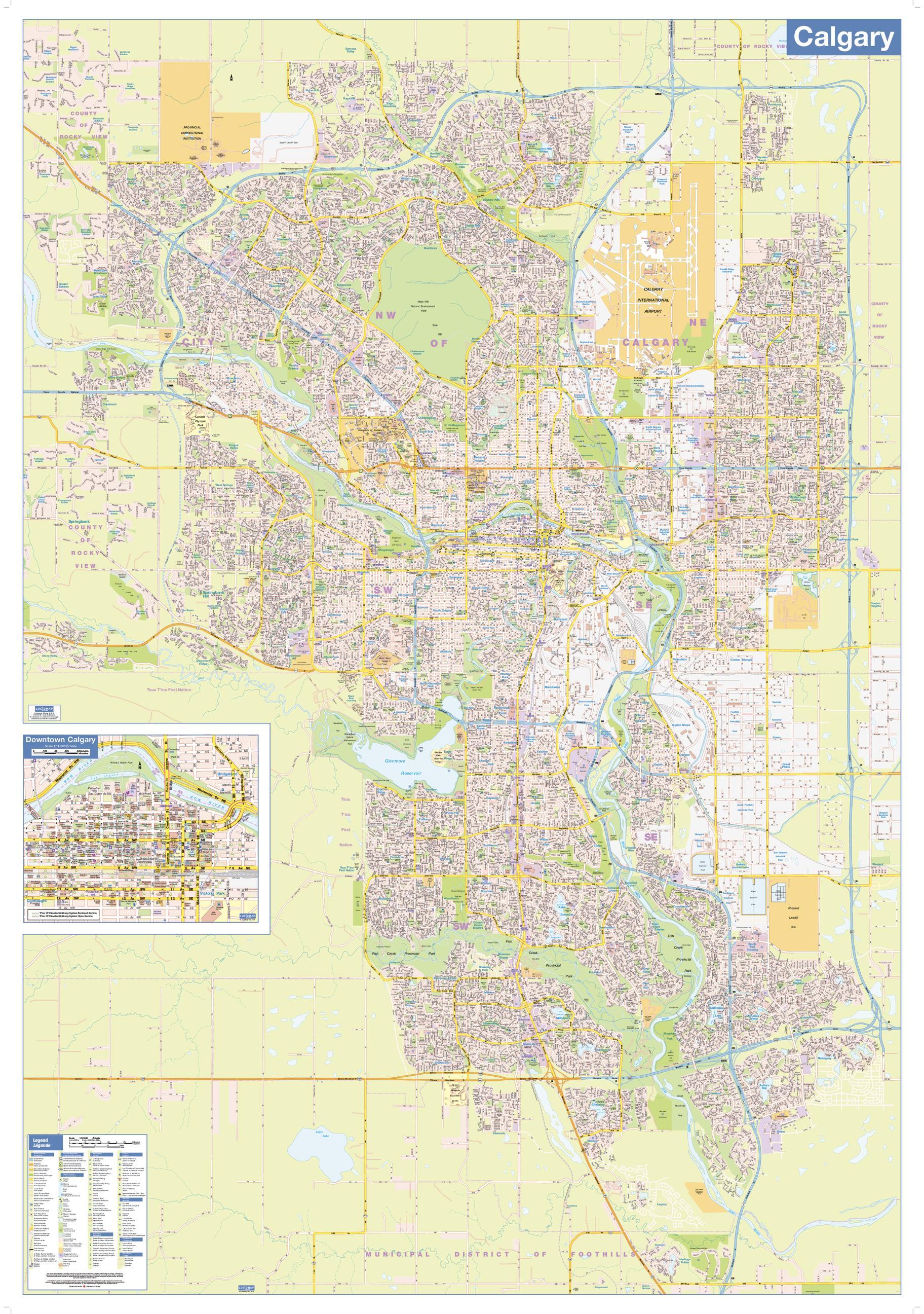 Calgary map LARGE Shop Online at WorldOfMapscom