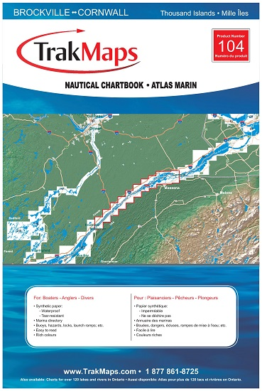 St lawrence river atlas 104 waterproof map from for St lawrence river fishing