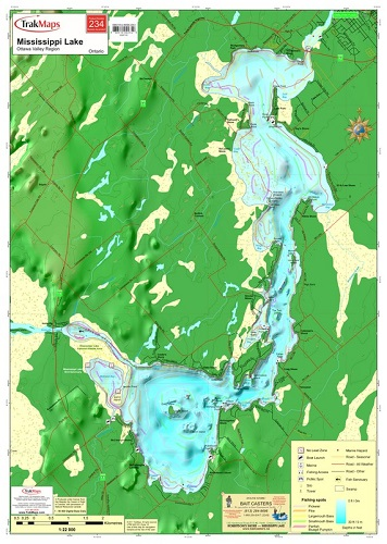 Mississippi Lake 234 Ottawa Valley Waterproof Map From