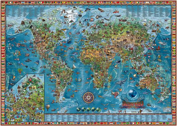 World map childrens style 54x36 world map childrens style 54 world map childrens style 54x36 gumiabroncs Gallery