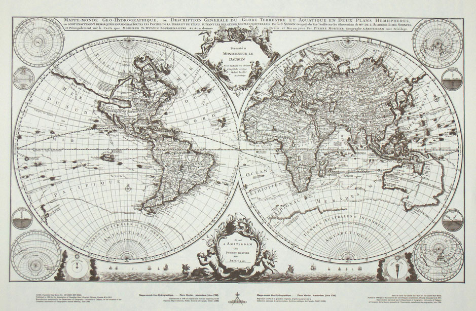 World map circa 1700 Shop Online at
