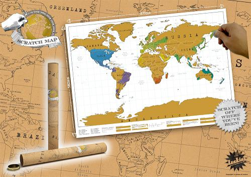 Scratch off world map scratch off the places youve been and scratch off world map gumiabroncs Image collections
