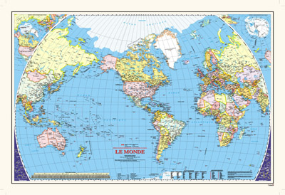 Le monde can gov 33x48 french a world map produced by the le monde can gov 33x48 french gumiabroncs Gallery