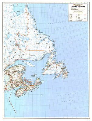 Atlantic Provinces 41 X36 Paper An Official Government Wall Map