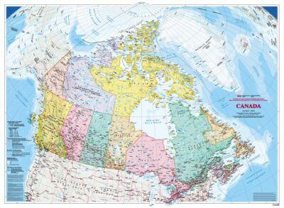 Canada map WALLPAPER 5 panels = 68\