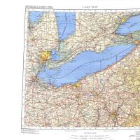 Lake Erie IMW Topo Map Lake Erie IMW Topo - Lake erie topographic map