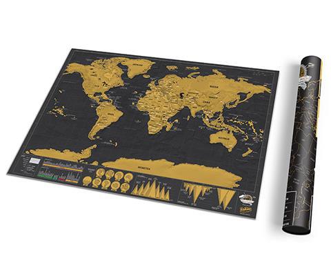 Scratch Map Deluxe Vinyl Frame X Scratch Off De Luxe Vinyl - Scratch map frame